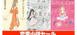 恋愛小説110冊がセール!『きみといたい、朽ち果てるまで』『美幸』『ブリジット・ジョーンズの日記』『植物図鑑』『恋のぼり』他